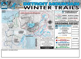 Green Circle Trail Map Mountain Biking Map Detroit Mountain