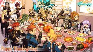 cartoon thanksgiving wallpaper azure striker gunvolt official web site