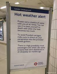 Some excellent travel advice for london underground passengers