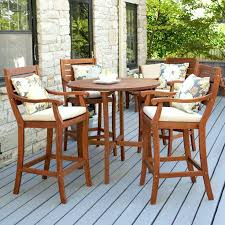 Dining Outdoor Furniture Brown Wooden Patio Furniture Sets Bar - Bar height dining table nz