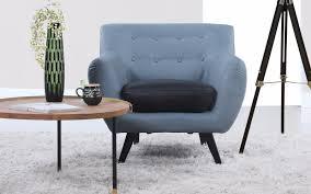 nico mid century modern bonded leather chair sofamania com