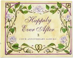 anniversary photo album happily after our wedding anniversary album wedding album