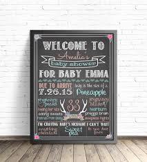 baby shower chalkboard baby shower chalkboard sign boho chic baby shower