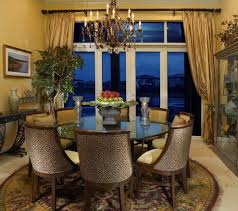 miami animal print chairs dining room traditional with curtains