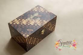 Wedding Ring Box by Batik Theme Wedding Ring Box Signature Wedding Details