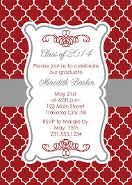 high school graduation party invitations quatrefoil graduation party invitation for college or high school