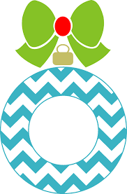 chevron ornament monogram frame silhouette