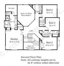 Second Floor Plans Baby Nursery Second Floor House Plans Ballard Classical House