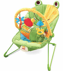 Toy Chair Fisher Price Baby Infant Bouncer Seat Chair In Frog Green