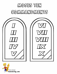 printable 10 commandments coloring pages trials ireland
