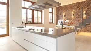 briques cuisine cuisine en brique cuisine avec lot central plan de travail with