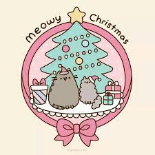 meowy christmas meowy christmas pusheen pusheen pusheen cat and cat