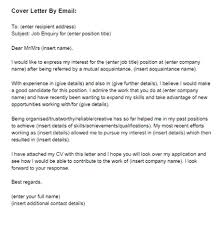 cover letter template for email 28 images 7 letter sle in