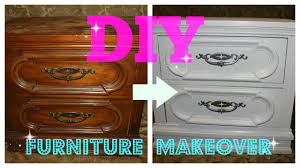 Bedroom Furniture Makeover - diy furniture makeover full tutorial youtube
