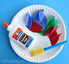 turkey plate craft paper plate turkey craft using tissue paper crafty morning