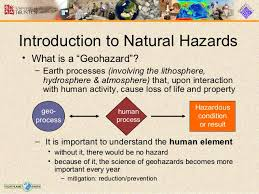 Natural hazards and disaster types mitigation and management