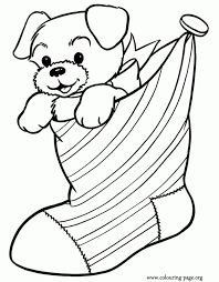 puppy christmas coloring pages aecost net aecost net