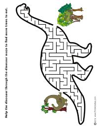 free printable mazes kids alphabet dinosaur numbers