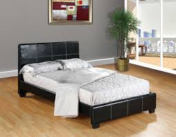 amazon com home life leather platform bed with slats full