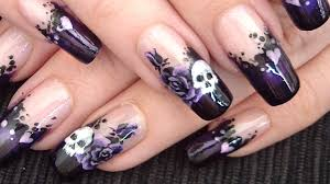 gothic love nail art design tutorial youtube
