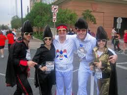 Conehead Costume Riepercussions Running With The Elvi Barefoot Elvis Runs Vegas