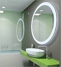 bathroom wall mirror with upper and side lighting for bathroom