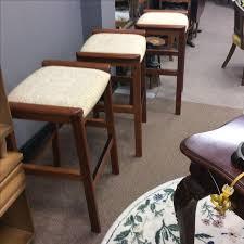 danish bar stools j l moller danish teak bar stools set of 3 chairish
