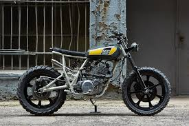 rocketgarage cafe racer yamaha dirt track street and flat