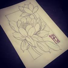 sketch art pencil drawings tag lotus archives tattooflashes org