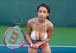 Big Boobs Meme - topless model elizabeth anne playing tennis on youtube life