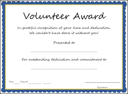 sample text for certificate of appreciation volunteer appreciation certificate template free
