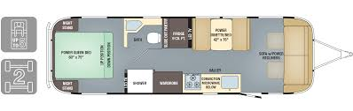 Open Range Fifth Wheel Floor Plans by Floorplans Classic Airstream