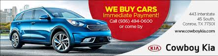 conroe u0027s cowboy kia new and used kia cars kia dealer serving