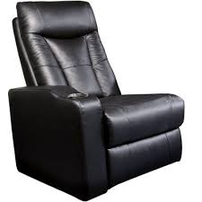 Faux Leather Recliner Left Recliner In Black Faux Leather