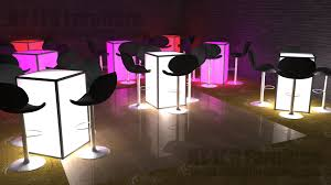 cocktail table rental led table rental light up event furniture rental