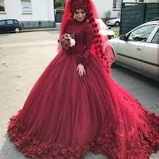 muslim wedding dress burgundy muslim wedding dresses plus size bridal gowns flowers
