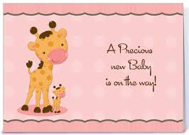 giraffe pink dots baby shower invitation greeting card by