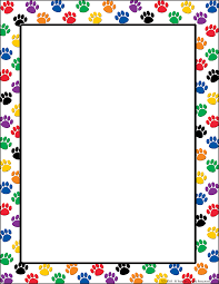 colorful paw prints computer paper tcr4769 teacher created