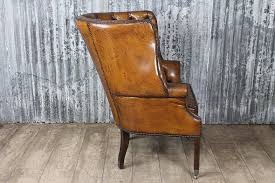 Distressed Leather Armchairs Antique Style Armchair In Brown Leather