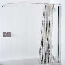 oval shower curtain rod image bed u0026 shower the height of the