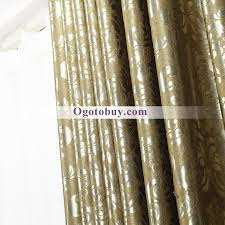 heavy flame retardant blackout gold beautiful curtains buy gold