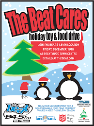 thanksgiving food drive items british columbia division the beat cares holiday toy and food drive