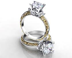 detailed engagement rings viachi bi color engagement rings engagement 101