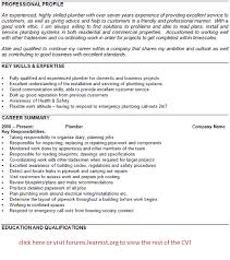 plumber cv example template forums learnist org