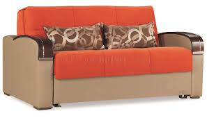 Orange Sofa Bed by Plus Sofa Bed In Orange Fabric By Casamode W Options
