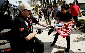 A American Flag Pictures Ku Klux Klan Members Linked To Violent Calif Brawl Released