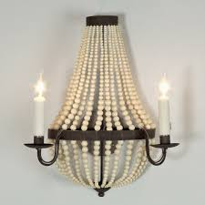Chandelier Sconce Beaded Basket Sconce 2 Lt Shades Of Light
