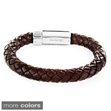 men braided leather bracelet images Men 39 s genuine leather bracelet with stainless steel magnetic clasp jpg