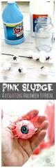 pink sludge diy disgusting eyeball slime momdot