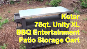 keter unity xl bbq entertainment patio storage cart youtube